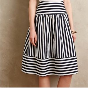 NWT Anthropologie Maeve Navy Striped Skirt